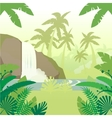 Jungle Flat Background4 vector image vector image