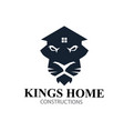 kings home lions real estate logo designs vector image vector image