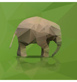 little elephant from triangles walking eps10 vector image
