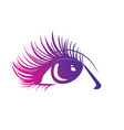 logo eyelashes stylized hair abstract lines vector image vector image