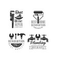 logos for plumbing and repairing services home vector image vector image