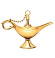magic golden lamp vector image