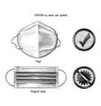 mask for prevent coronavirus disease 2019 vector image