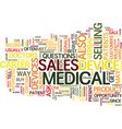 medical devices sales career text background word vector image vector image