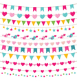 Party bunting set vector image vector image