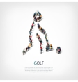 people sports golf vector image vector image