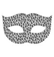 privacy mask composition of dollar and dots vector image vector image