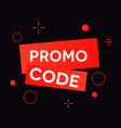 promo code coupon code vector image vector image