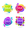 promotional sale collection of bright discount vector image vector image