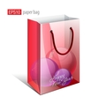 Red Paper Bag with a picture vector image vector image
