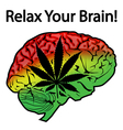 Relax Your Brain vector image vector image