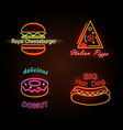 royal cheeseburger and donut vector image