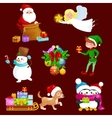Santa Claus sack full of giftsangel wings magic vector image vector image