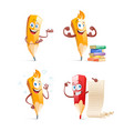 set of cute funny pencil cartoon vector image
