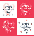 set of four valentines day designs vector image vector image
