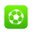 soccer ball icon digital green vector image vector image