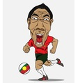 Soccer player portugal vector image