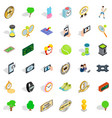 sport icons set isometric style vector image vector image