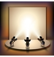 Stage With Spotlights vector image vector image