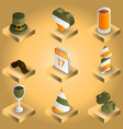 stpatricks day gradient isometric icons vector image vector image