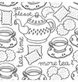 Tea and biscuit wallpaper vector image