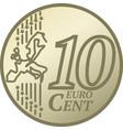 ten euro cent coin vector image vector image