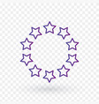 ten linear score stars in circle linear icon vector image