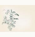 toro flower temple mountain nature landscape view vector image vector image