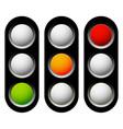 traffic lamp traffic light semaphore icon set vector image