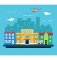 Urban Landscape Hospital Shop Residential House vector image vector image