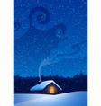 Winter landscape with house vector image vector image