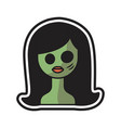 woman halloween logo icon design vector image vector image