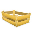 wood crate for grocery vector image vector image