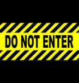 yellow and black do not enter sign vector image vector image