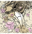 Beautiful Woman with carnival mask vector image