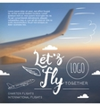 Lets fly typographic airline poster vector image
