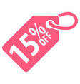 15 percent off tag vector image