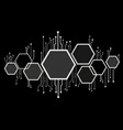abstract bee hive hexagon and technology line