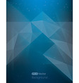 abstract dark blue background diamond style vector image vector image