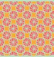 abstract lemon shapes seamless pattern vector image vector image