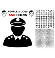 army general icon with bonus vector image