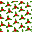 Background of Christmas Holly vector image vector image