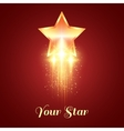 Background with glowing golden star vector image vector image
