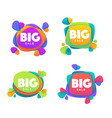 big sale collection of bright discount bubble vector image vector image