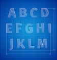 blueprint font vector image vector image