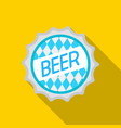 Bottle cap icon in flat style isolated on white