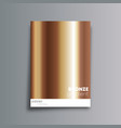 bronze gradient cover background for the banner vector image vector image