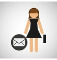 business girl icon vector image vector image