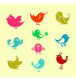 cartoon doodle birds vector image