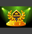 casino and playing card symbol banner with vector image vector image